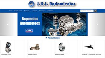 Detalle de www.jklrodamientos.com.ar/