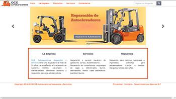 Detalle de www.oceautoelevadores.com.ar/